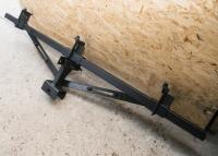 Сцепка на мотоблок, мототрактор усиленная удлиненная с раздвижными стяжками