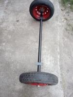 Балка для причепа з колесами в зборі (ступиці 01 шплінтовані) - БП9