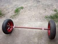 Балка для причепа з колесами в зборі (ступиці 2108) - БП10
