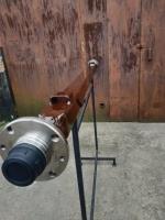 Балка АТВ-155 (08Р) для причепа квадратна, посилена (товщина 6 мм) зі ступицями ВАЗ 2108 під жигулівське колесо - БП12/155К-08Р6