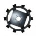 Землезацепы для мотоблока Zirka-105 (грунтозацепы) КО17 (450х150, без втулки)