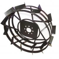 Железные колеса для мотоблока Зубр (почвозацепы) КО22 (600х180, без втулки)