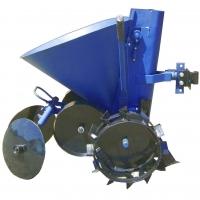 Полтавская картофелесажалка на мотоблок с опорными колесами КСМ-4
