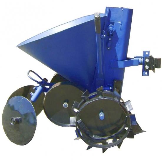 Полтавська картоплесаджалка до мотоблока з опорними колесами КСМ-4
