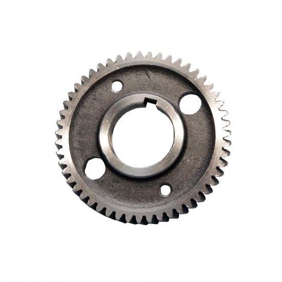 Шестерня балансировочная коленвала R185/190/192/195 (z=51, 2 отв., под шпонку, косой зуб)