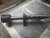 Вал для циркулярки з дроворубом - морковка, L-540 мм (ВЦД54)