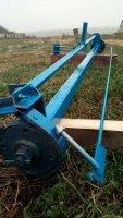 Балка для причепа мотоблока з гальмами, тягами і педаллю в зборі - БПМ120