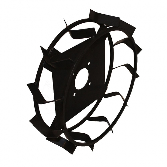 Металлические колеса на мотоблок (грунтозацепы) КО16 (450х110, без втулки)