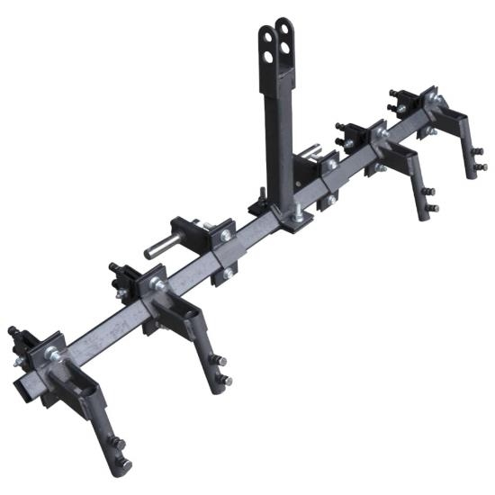 Зчіпка до мінітрактора потрійна на 3 точки СЦ43 (універсальний замок - 4 шт)